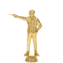 Civilian Pistol Male Gold Trophy Figure