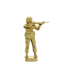Military Rifle Standing Gold Trophy Figure