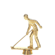 Shuffleboard w/Deck Male Gold Trophy Figure