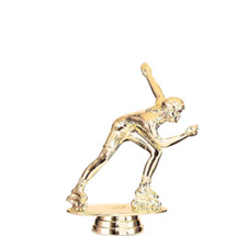 Inline Skater Female Gold Trophy Figure