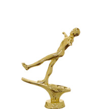 Trick Water Ski Female Gold Trophy Figure