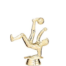Soccer/Bicycle Female Gold Trophy Figure