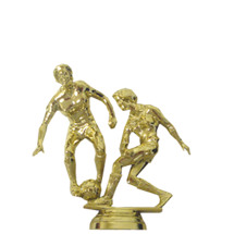 Soccer Double Action Female Gold Trophy Figure