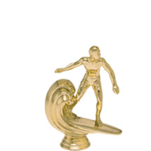 Surfer on Board Gold Trophy Figure