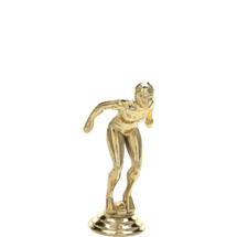 Swimmer Female Gold Trophy Figure