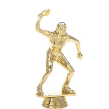 Ping Pong Female Gold Trophy Figure