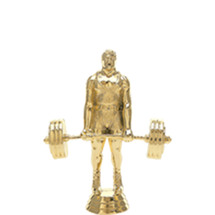 Weightlifter Power Gold Trophy Figure