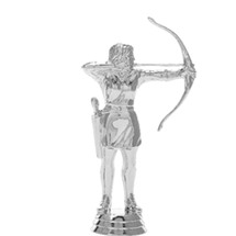 Archer Female Silver Trophy Figure