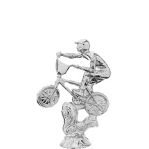 BMX Action Bike Silver Trophy Figure