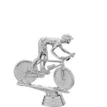 Mountain Bike Trophy Figure - Silver