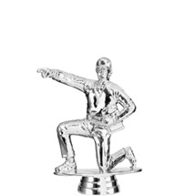 Coach Kneeling Male Silver Trophy Figure
