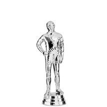 Coach Standing - Male Trophy Figure - Silver