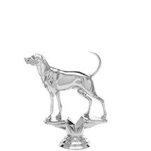 Coonhound Dog Silver Trophy Figure
