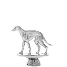 Greyhound Dog Silver Trophy Figure