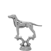 Pointer Dog Silver Trophy Figure