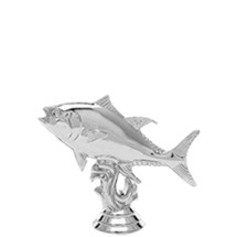 Tuna Fish Trophy Figure - Silver