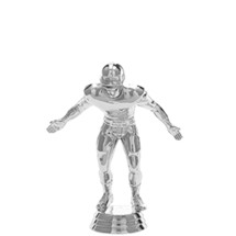 Football Lineman Silver Trophy Figure