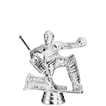 Ice Hockey Goalie Silver Trophy Figure