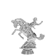 Bucking Bronco Silver Trophy Figure