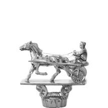 Trotter w/Sulky Silver Trophy Figure