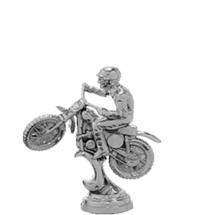 Scrambler Motorcycle Silver Trophy Figure