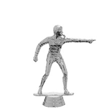 Referee Silver Trophy Figure