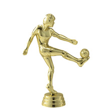 Soccer Kicker Female Gold Trophy Figure
