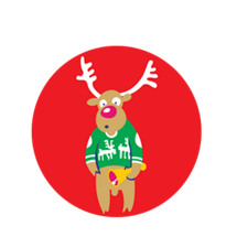 Holiday Sweater Reindeer Emblem