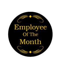 Employee of the Month Award Emblem