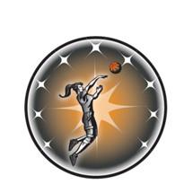 Female Basketball Emblem