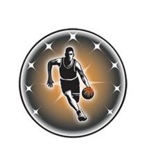 Male Basketball Emblem