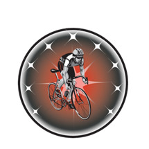 Bicycle w/Rider Emblem