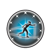 Cross Country Skier Male Emblem