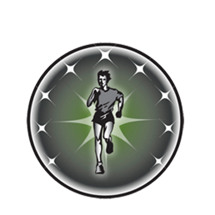 Cross Country Runner Male Emblem