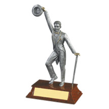"Dance Trophy - Jazz Dance Trophy - Male - 7 1/2"" Resin"