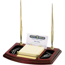 """5 1/2 x 6 7/8"""" Rosewood Business Card Holder"""