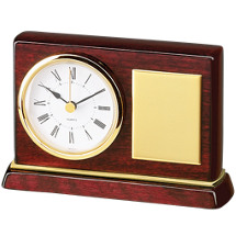 "5 x 3 1/2"" Small Deskset w/Quartz Clock"