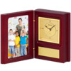 "2017 Dinn Deal! 4 x 5 1/2"" Folding Photo Holder w/Quartz Clock"