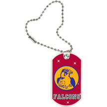 "1 1/8 x 2"" Falcons Mascot Sports Tag with Key Chain"