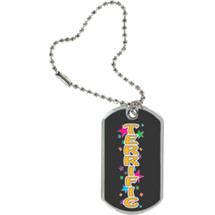 "1 1/8 x 2"" Terrific Sport Tag with 4 1/2 in. Key Chain"