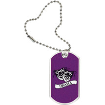 "1 1/8 x 2"" Drama Sports Tag with Key Chain"
