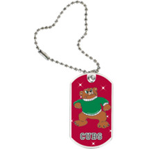"1 1/8 x 2"" Cubs Mascot Sports Tag with Key Chain"