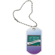 "1 1/8 x 2"" Mathematics Sports Tag with Key Chain"