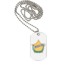 "1 1/8 x 2"" Principal's Award Sports Tag with Neck Chain"