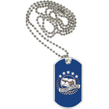 "1 1/8 x 2"" Student Council Sports Tag with Neck Chain"