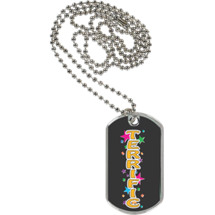 "1 1/8 x 2"" Terrific Sport Tag with 24 in. Neck Chain"