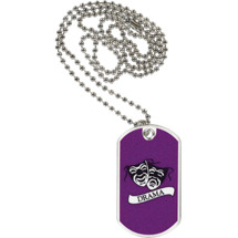 "1 1/8 x 2"" Drama Sports Tag with Neck Chain"