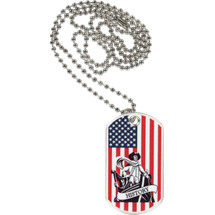 "1 1/8 x 2"" History Sports Tag with Neck Chain"