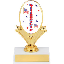 "5 3/4"" Citizenship Oval Riser Trophy"