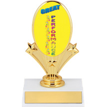 "5 3/4"" Great Performance Oval Riser Trophy"